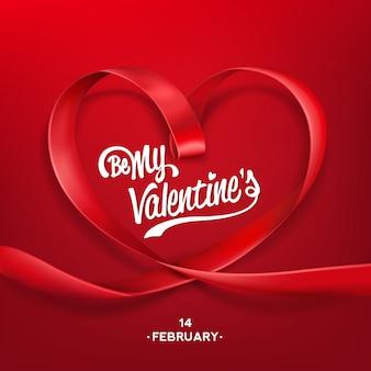 Valentijnsdag typografische achtergrond