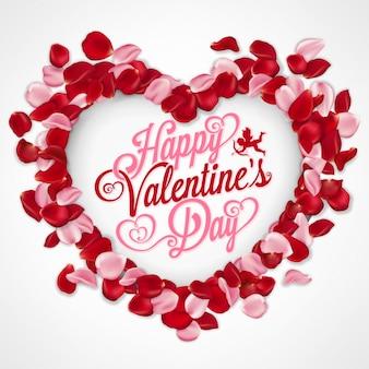 Valentijnsdag typografische achtergrondkleur