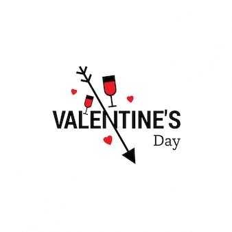 Valentijnsdag typografische