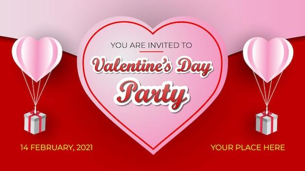 Valentijnsdag uitnodiging