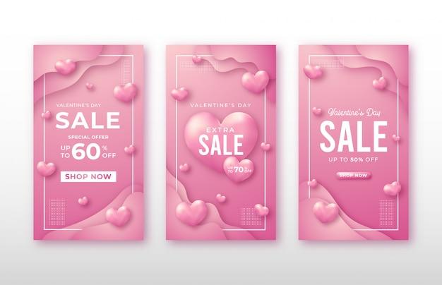 Valentijnsdag verhaal sociale media sjabloon