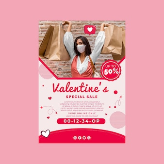 Valentijnsdag verkoop a4 poster