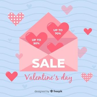 Valentijnsdag verkoop achtergrond