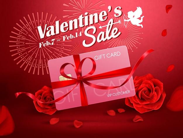 Valentijnsdag verkoop advertenties illustratie