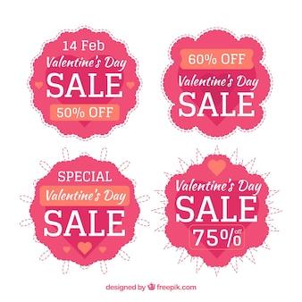 Valentijnsdag verkoop badge