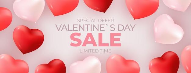 Valentijnsdag verkoop banner achtergrondontwerp