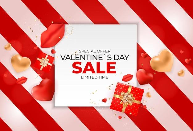 Valentijnsdag verkoop banner ontwerp.