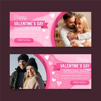 Valentijnsdag verkoop banners sjabloon
