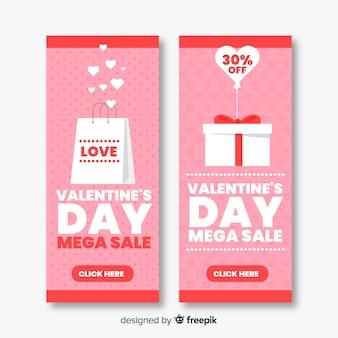 Valentijnsdag verkoop banners
