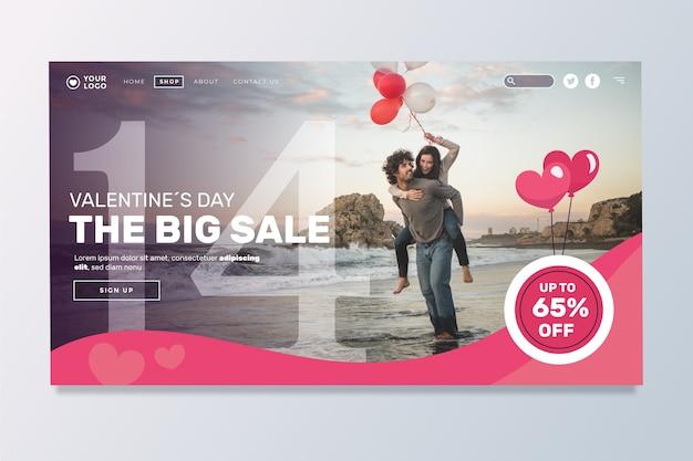 Valentijnsdag verkoop bestemmingspagina