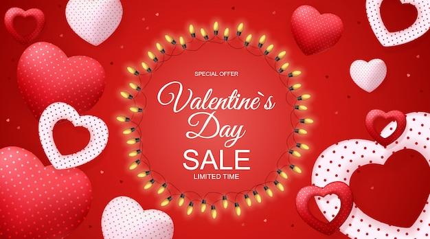 Valentijnsdag verkoop, discont-kaart