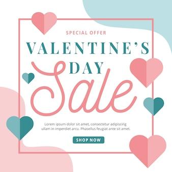 Valentijnsdag verkoop evenement