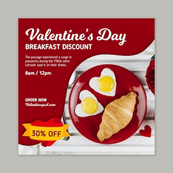 Valentijnsdag verkoop flyer vierkant