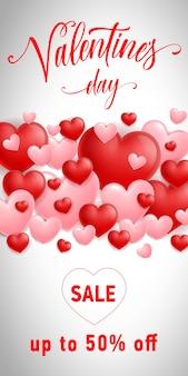 Valentijnsdag verkoop inscriptie