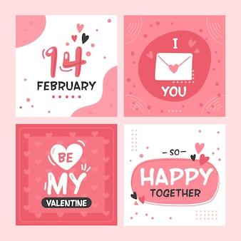 Valentijnsdag verkoop instagram-berichten
