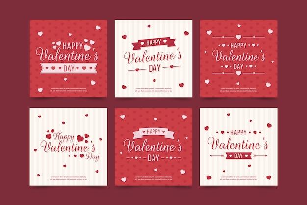 Valentijnsdag verkoop instagram post collectie