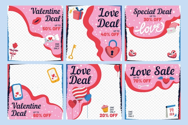 Valentijnsdag verkoop instagram post