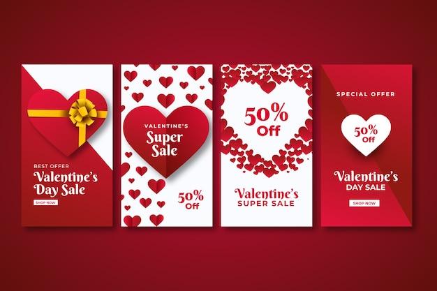 Valentijnsdag verkoop instagram verhaalcollectie