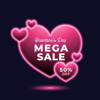 Valentijnsdag verkoop neon
