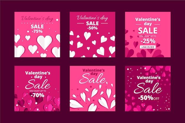 Valentijnsdag verkoop post set