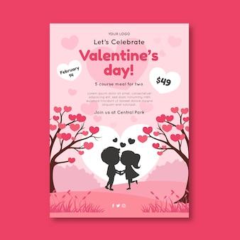 Valentijnsdag verkoop poster a4