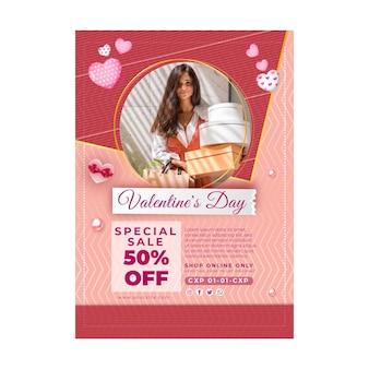 Valentijnsdag verkoop poster sjabloon