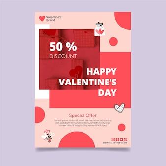 Valentijnsdag verkoop poster