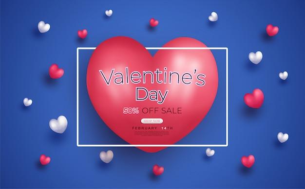 Valentijnsdag verkoop promotie website