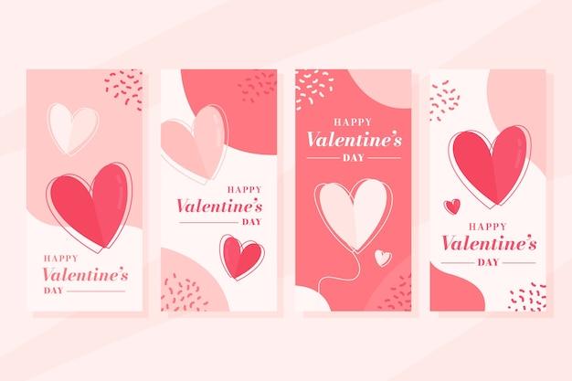 Valentijnsdag verkoop verhaal set