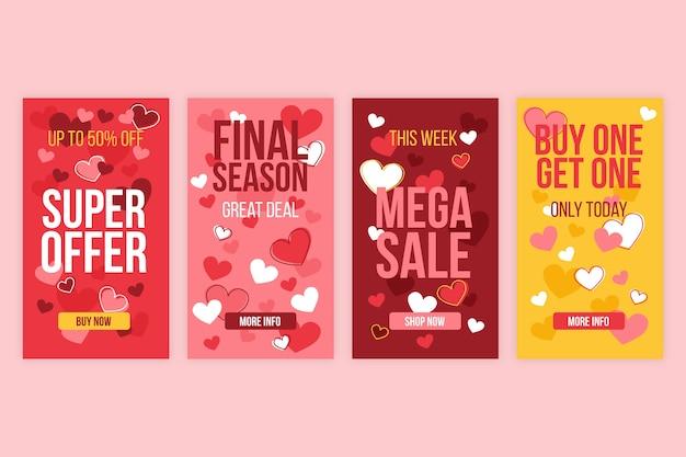 Valentijnsdag verkoop verhaalcollectie
