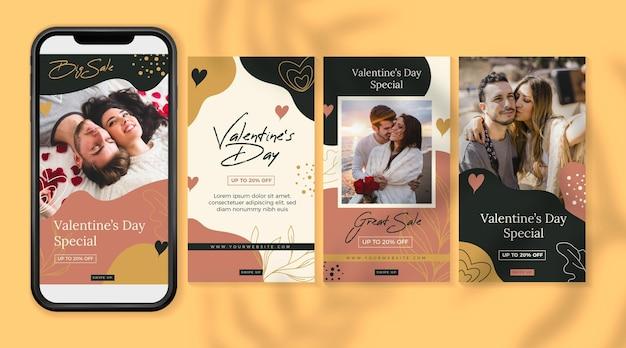 Valentijnsdag verkoop verhaalset