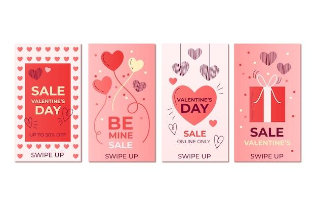 Valentijnsdag verkoop verhalen collectie