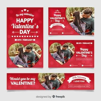 Valentijnsdag verkoop webbanners