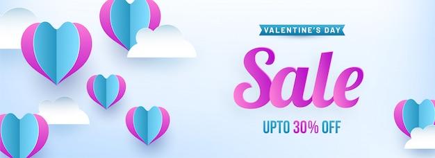 Valentijnsdag verkoopbanner.