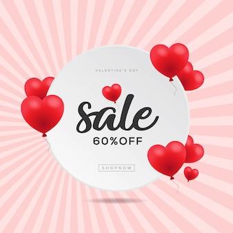 Valentijnsdag verkoopbanner