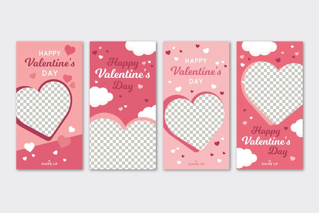 Valentijnsdag verkoopverhalen ingesteld