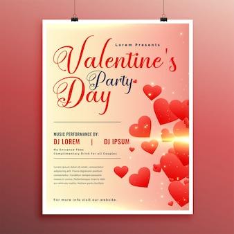 Valentijnsdag viering flyer ontwerpsjabloon