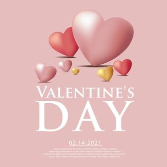 Valentijnsdag viering sjabloon illustratie