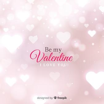 Valentijnsdag wazig harten achtergrond