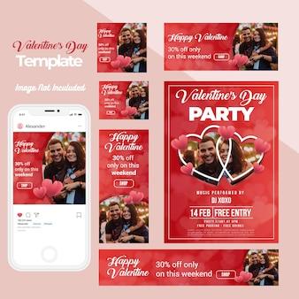 Valentijnsdag web instagram banner collectie