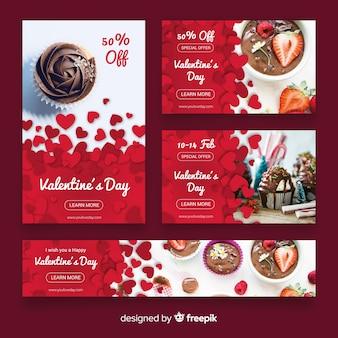 Valentijnsdag webbanner collectio