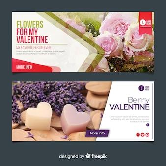 Valentijnsdag webbanners met foto