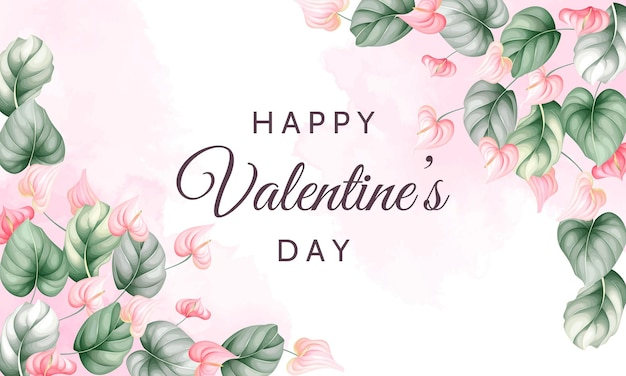 Valentijnsdag wenskaart met prachtige bloemen