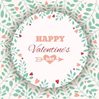 Valentijnsdag wenskaart.