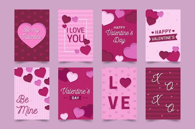 Valentijnsdag wenskaarten