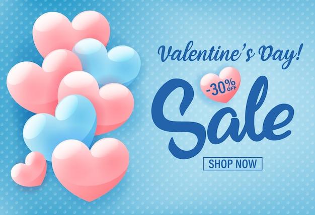 Valentijnsdag winkelen verkoop sjabloon voor spandoek