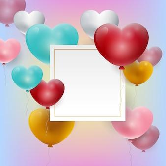Valentijnsdag witboek kopie ruimte sjabloon
