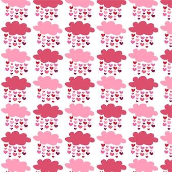Valentijnsdag wolk hart patroon voor wenskaart