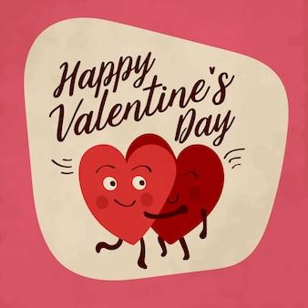 Valentijnsdaggroet met hartvormige karakters
