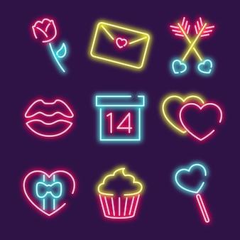 Valentijnsdagviering met pictogrammen